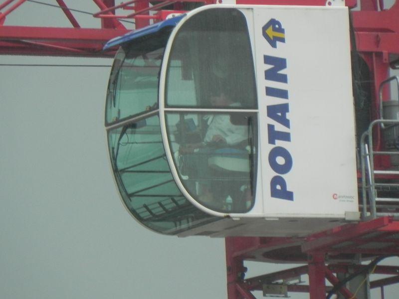 Man in crane