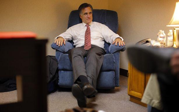 Romney in lazi boy