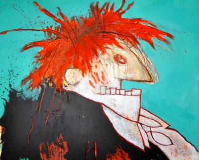 Big red head by Michel Berberian