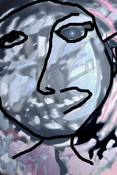 Left handed portrait
