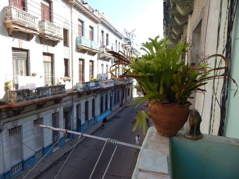 Street scene and pot