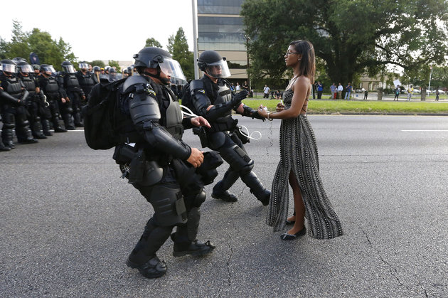 Girl and cops
