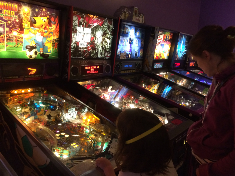 Playing pinball in ballard